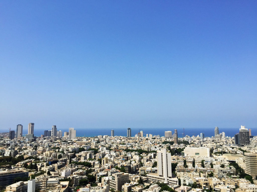 Tel Aviv from above. The Tel Aviv skyline as seen from the 30th floor of the Sarona Tower. Photo by Su Casa Tel Aviv Real Estate. All Rights Reserved.